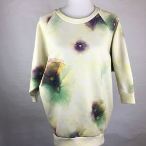 Zara Basic Colorful Watercolor Thick Top